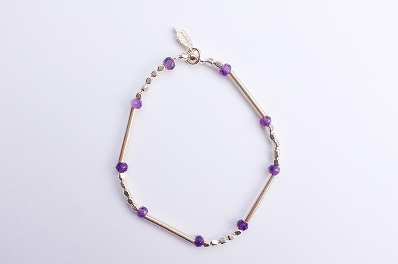 Bracelet argent et am thystes fil lastique agathe plume - Fil elastique pour bracelet ...